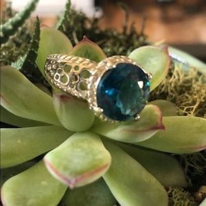 London Blue Topaz Ring